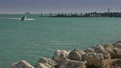 Coast of the Persian Gulf, in Bahrain. - stock footage