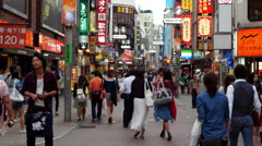 Time Lapse of Busy Shibuya Shopping District Daytime - Tokyo Japan - stock footage