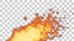 Fire particles animation Stock Footage