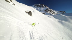 skiing off piste - stock footage