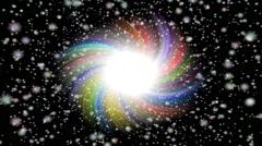 Burst star generated seamless loop video Stock Footage