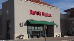 David's Bridal Boutique Exterior Shot Stock Footage