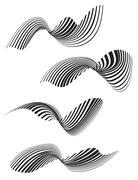 optical effect mobius wave stripe design - stock illustration
