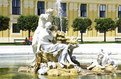 Sculpture of Schonbrunn Palace, in Vienna, Austria Stock Photos