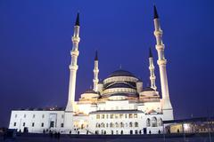 Kocatepe Mosque in Ankara - night Stock Photos