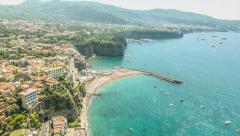 Exotic Coastline Coast Aerial Town Vacation Holiday View Heaven Travel Europe Stock Footage