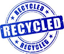 Recycled stamp icon Stock Illustration