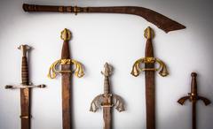 Sword collection Stock Photos