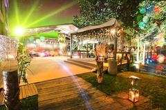 Outdoor wedding place at night Kuvituskuvat