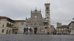 Cathedral Prato Tuscany timelapse Stock Footage