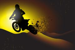 Motocross background design with grunge element and place for text Stock Illustration