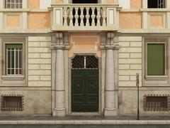 building facade - stock illustration