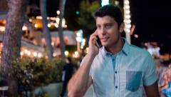 Handsome Young Successful Businessman Tourist Man Talking On Phone Vacation Stock Footage