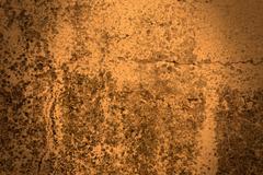spotlight on an old cracked wall - stock photo