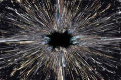 Stock Illustration of black hole explosion