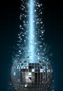 Disco explosion Stock Illustration