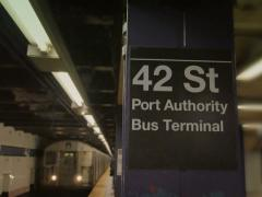 Manhattan Subway Station 42nd Street Stock Footage