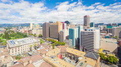 4k timelapse video of downtown Adelaide in the daytime Stock Footage
