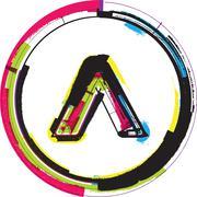 Colorful grunge symbol Stock Illustration