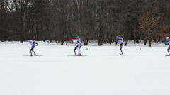 Ski race competition Stock Footage