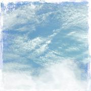 Grunge cloudy sky background Stock Illustration
