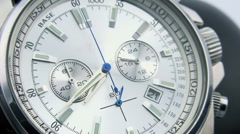 Close-up View of Hand Watch Time lapse. Full HD Stock Footage