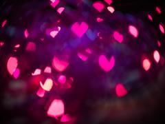 Stock Illustration of heart bokeh background, valentine's day