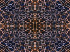 kaleidoscope animal fur pattern - stock illustration