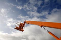 Hydraulic lift machine Stock Photos