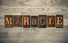 miracle wooden letterpress concept - stock photo