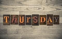 thursday wooden letterpress concept - stock photo