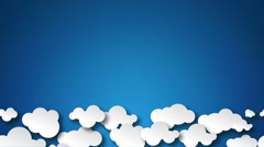 Cloudy Sky Background Stock Footage