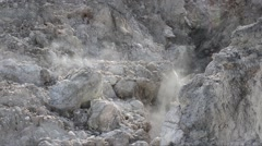 Fumaroles in the Phlegraean  Fields, volcanic area, Italy Stock Footage
