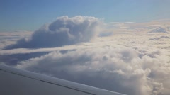 looking out of airplane window - stock footage