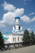 church in svjatogorsk, ukraine - stock photo