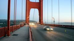 Golden Gate Bridge traffic in San Francisco, USA. Stock Footage