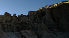 Time Lapse of Sun Shining through Sandstone Formation -Pan Left- Stock Footage
