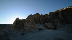 Time Lapse of Sun Shining through Sandstone Formation Stock Footage