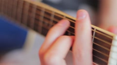 Playing guitar 6 Stock Footage