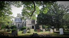 Country Church, Kingswood, United Kingdom. Time-lapse 4k. Stock Footage
