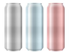 Aluminum cans set Stock Illustration