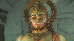 Hanuman statue at Rishikesh in Uttarakhand, India Stock Footage