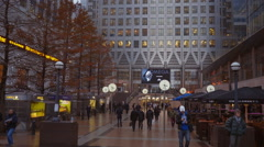 Reuters Plaza at Canary Wharf - stock footage