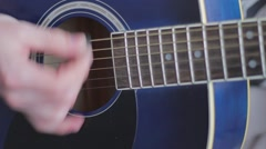 Playing guitar 4 Stock Footage