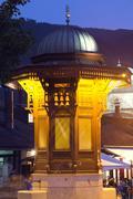 Sarajevo, historical fountain Stock Photos