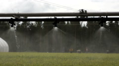 Agriculture automatic watering equipmen Stock Footage