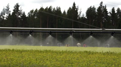 Forestry automatic irrigation equipment slow - stock footage