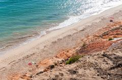 Falesia beach seen from the cliff Stock Photos