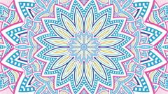 Colourful kaleidoscopic video loop Stock Footage