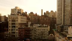 new york city buildings architecture background. aerial view - stock footage